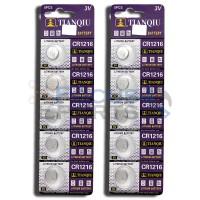 CR1216 DL1216 5034LC 280-208 DL1216 ECR1216 BR1216 1216 Button Cell Batteries [10-Pack]