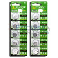CR1220 DL1220 ECR1220 5012LC Button Cell Batteries [10-Pack]