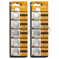 CR1616 DL1616 ECR1616 5021LC LM1616 Button Cell Batteries [10-Pack]