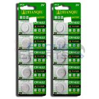 CR1632 DL1632 ECR1632  Button Cell Batteries [10-Pack]
