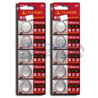 CR2016 5000LC LM2016 ECR2016 LS2016 BR2016 Button Cell Batteries [10-Pack]