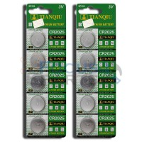 CR2025 BR2025 LM2025 5003LC DL2025 Button Cell Batteries [10-Pack]