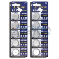 CR2032 ECR2032 DL2032 5004LC Button Cell Batteries [10-Pack]