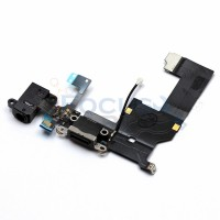 iPhone 5 Lightning Dock Assembly and Audio Jack Replacement - Black