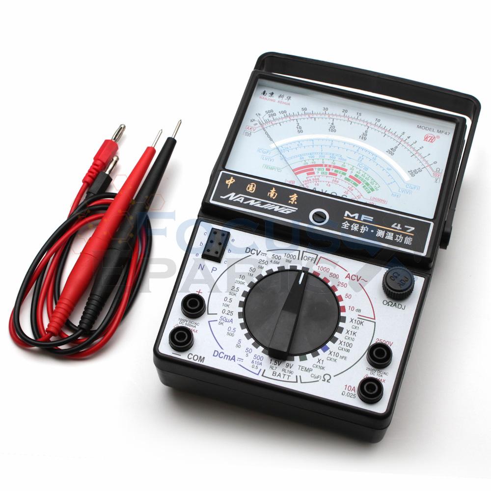 Analog multimeter ohm dc voltmeter ammeter multi tester