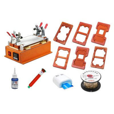 Screen Repair & LCD Touch Screen Glass Separator Machine for iPhone and Samsung Phones Tablets (Orange) - Combo Set